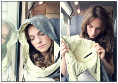 Капюшон для сна в транспорте