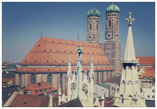 Вид на крыши Мюнхена