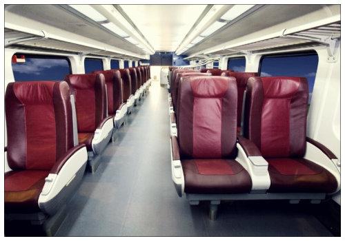 В вагоне немецкого поезда