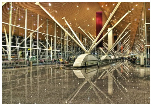 Мюнхенский аэровокзал, вид изнутри