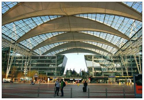 Вид на мюнхенский аэропорт