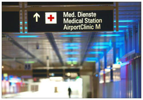 Медицинский кабинет в аэропорту