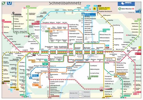 Схема мюнхенского метро