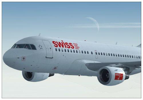 Swiss самолёт.