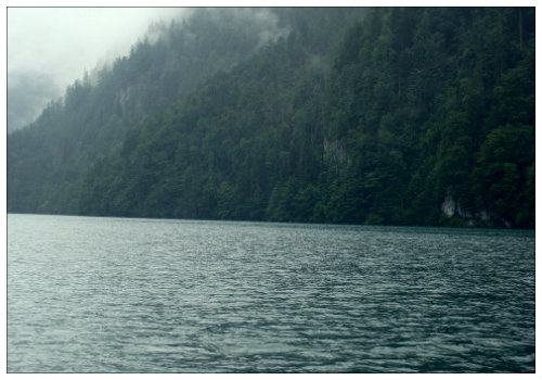 Озеро в тумане.