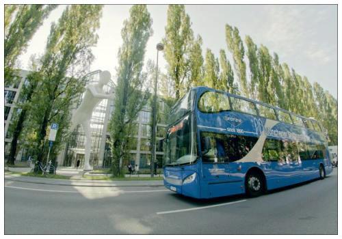 Открытый автобус.