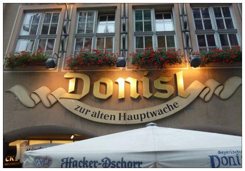Вывеска ресторана DONISL.