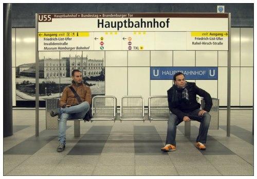 Станция метро Hauptbahnhof.