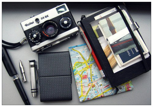 Фотоаппарат и карта.