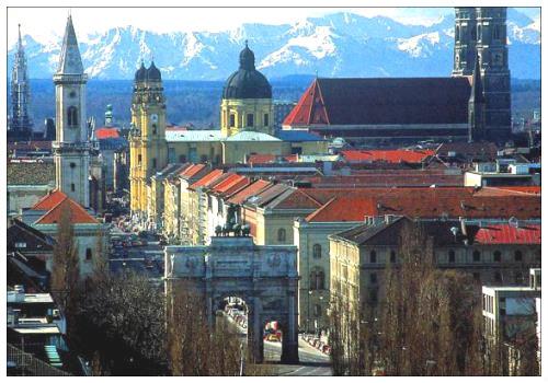 Вид на Мюнхен
