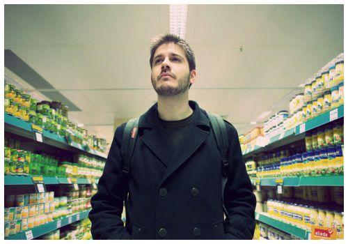 В супермаркете.