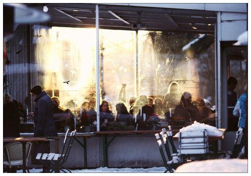 Кафе в Берлине.