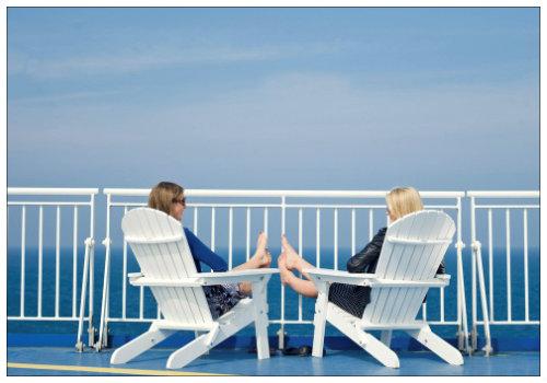 Отдыхаем на палубе