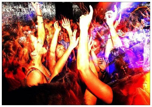 На ночной дискотеке