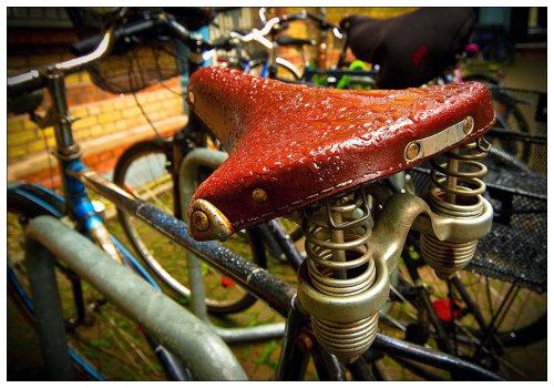 Велосипед после дождя