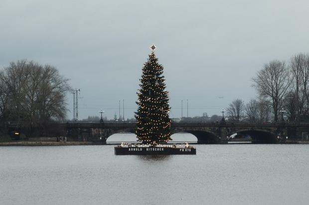 Рождественская ёлка в Гамбурге.
