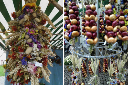 Pfannkuchen — луковые венки и букеты из сухих цветов.