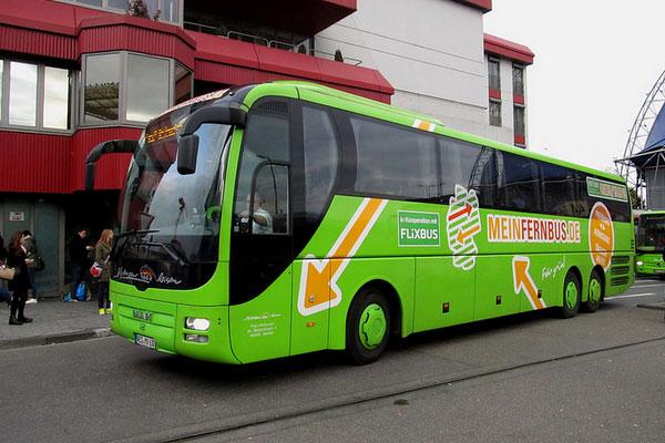Из Германии во Францию на автобусе.