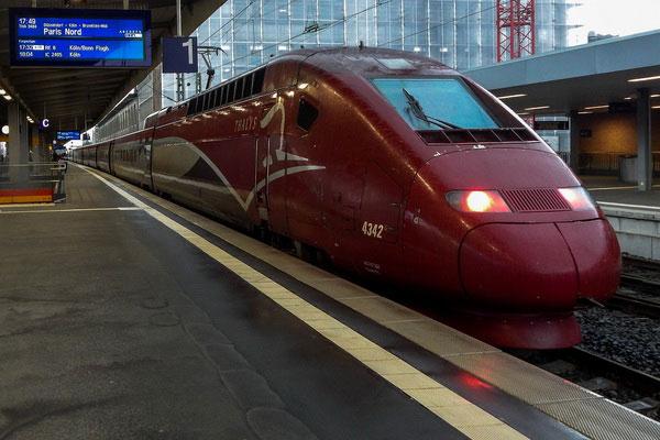 Из Германии во Францию по железной дороге.