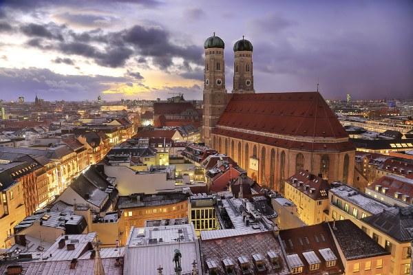 Мюнхен зима.