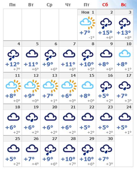 Погодные условия в столице Германии в ноябре 2020 года.
